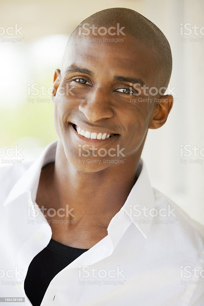 Portrait: African American Man Outdoors stock photo