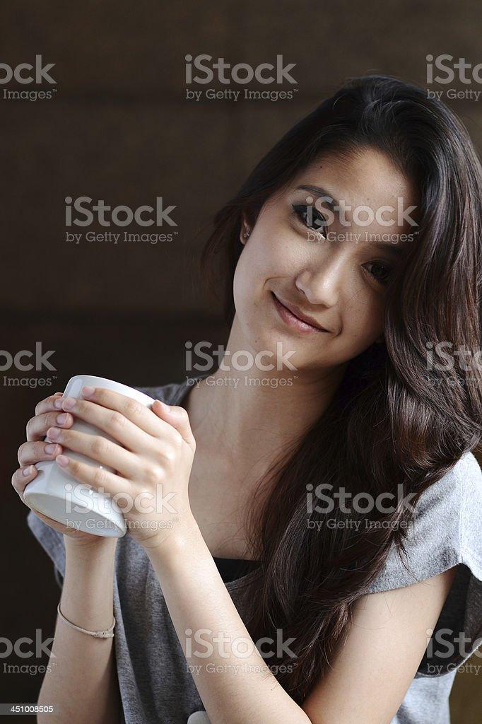 Portrait beautiful Asian Girl royalty-free stock photo