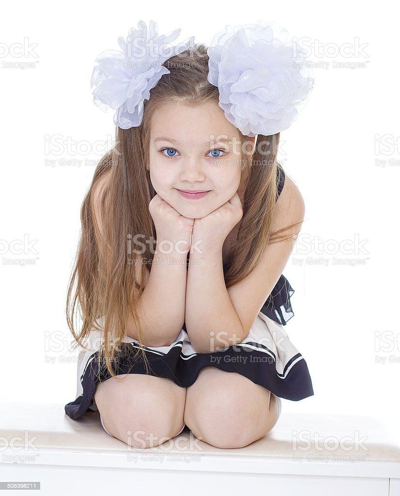 Portrait de la belle petite fille. photo libre de droits