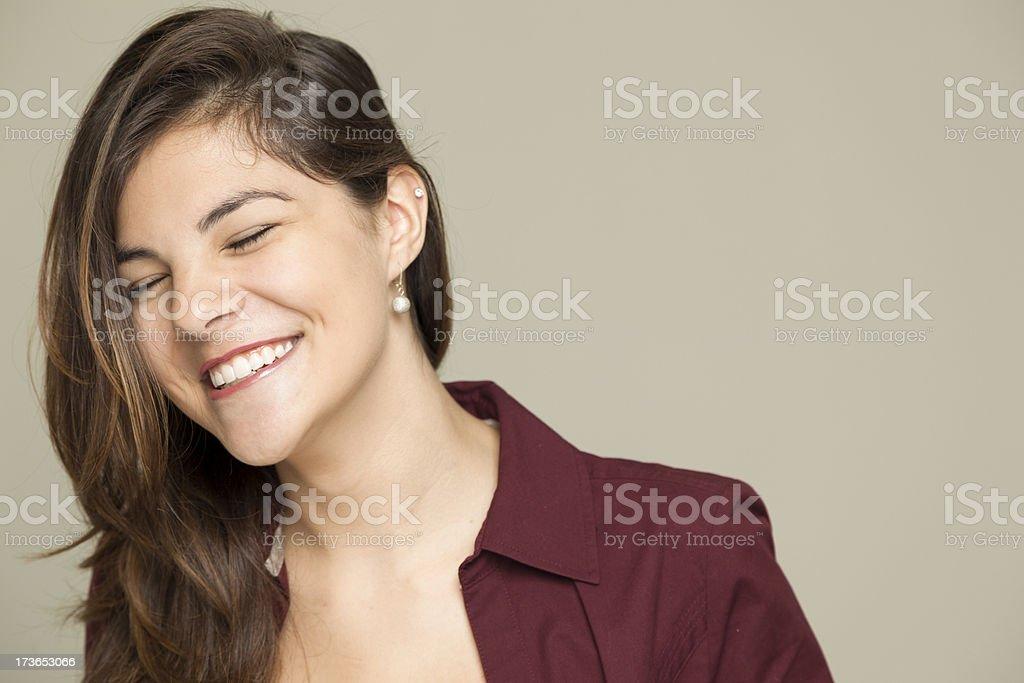 Portrait: Beautiful teenage girl laughing royalty-free stock photo