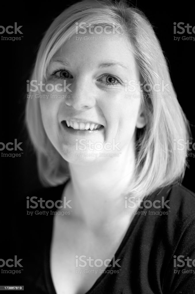 Portrait blonde woman royalty-free stock photo