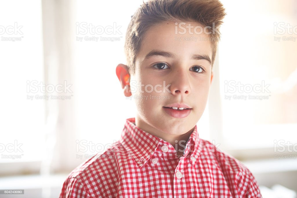 Portrait boy stock photo