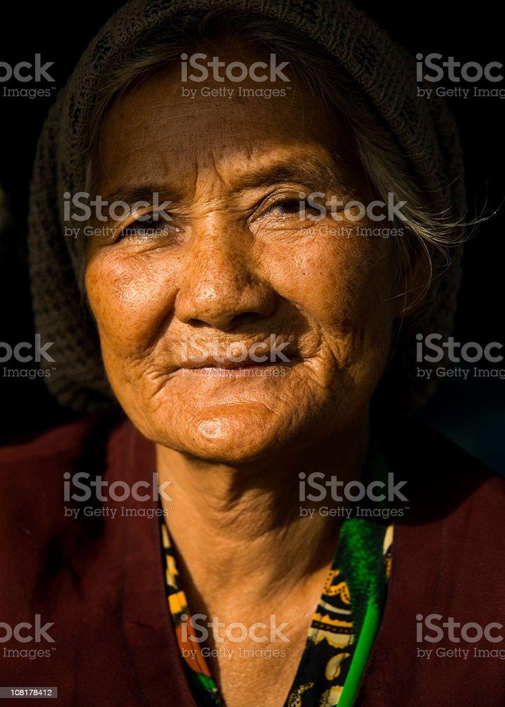 Portrait Cambodian Woman royalty-free stock photo