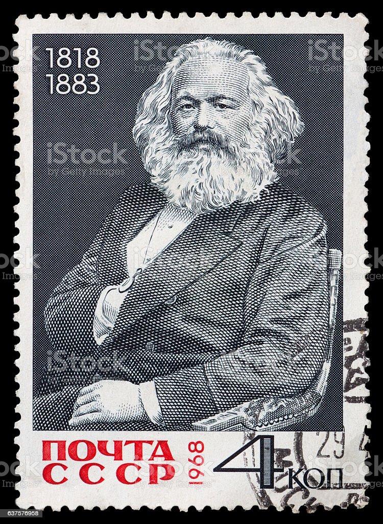 portrait Carl Marx stock photo