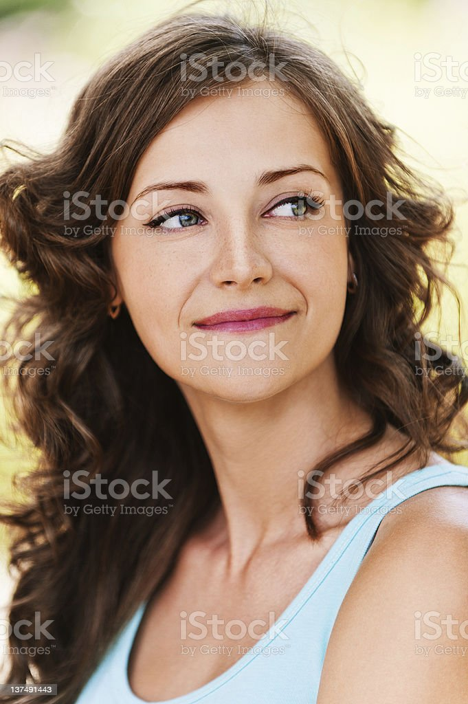 portrait charming modest young woman royalty-free stock photo