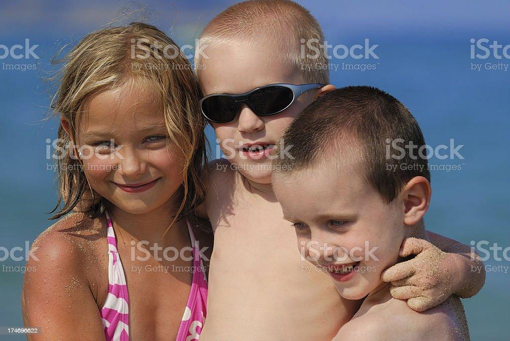 Portrait - Children on the beach royalty-free stock photo