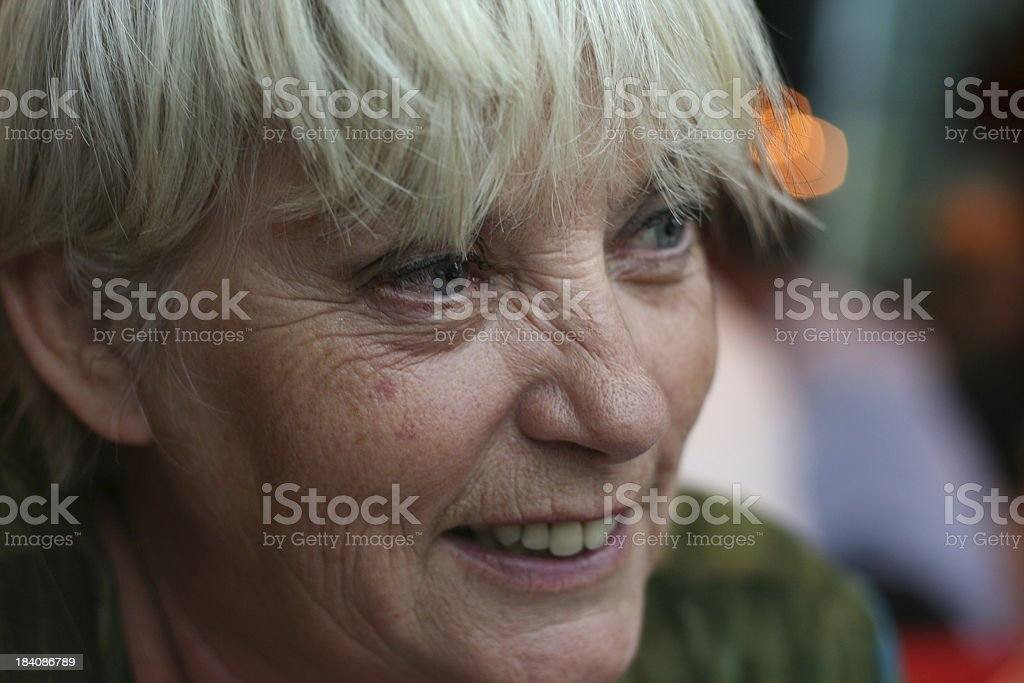 Portrait close yp of a Senior Woman royalty-free stock photo