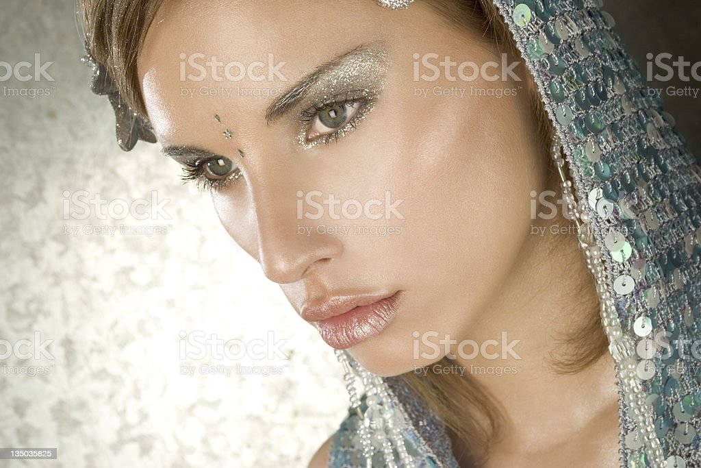 portrait - cyber girl royalty-free stock photo