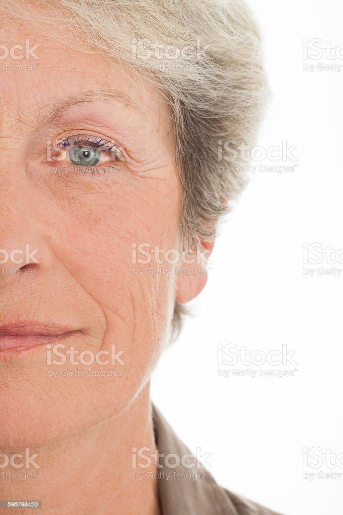 portrait d'une femme sénior stock photo
