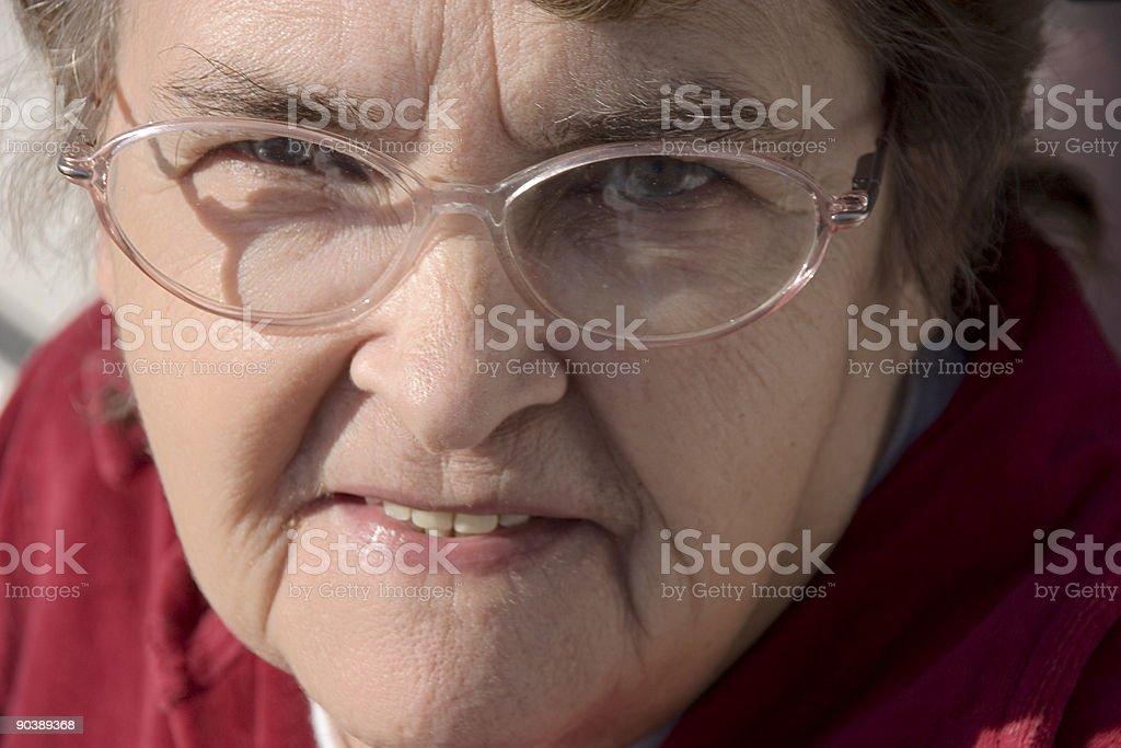 Portrait elderly woman royalty-free stock photo