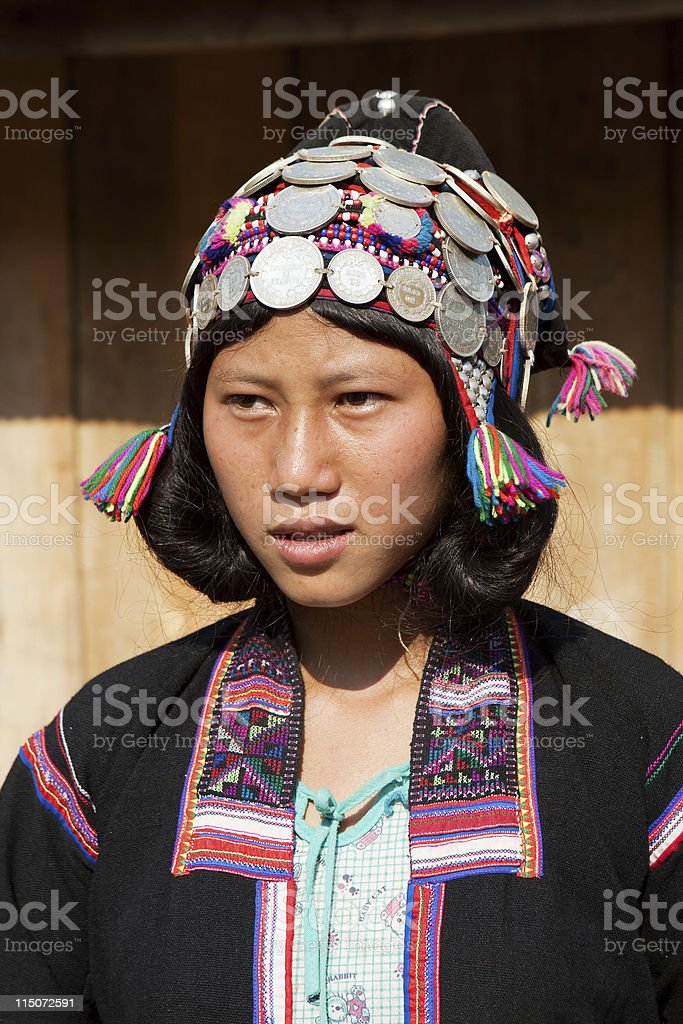 Portrait ethnic group Si lo in Laos stock photo