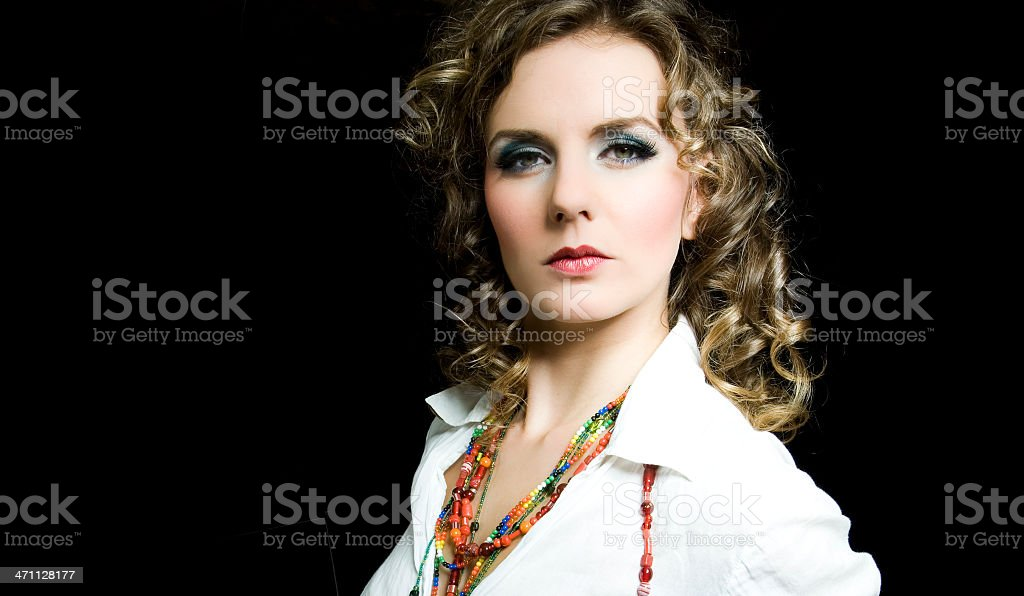 portrait from a beautiful fashion girl royalty-free stock photo