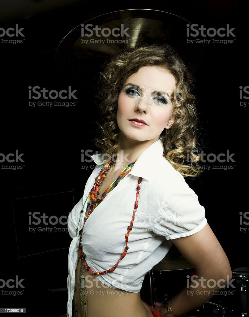 portrait from a beautiful girl royalty-free stock photo