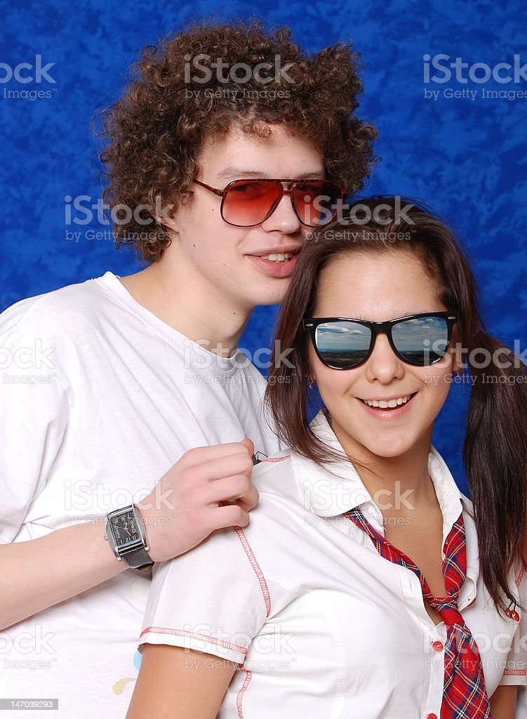 Portrait girl and boy royalty-free stock photo