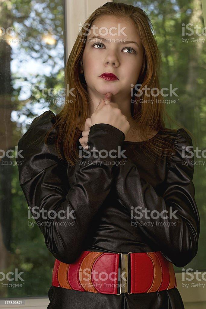 Portrait  girl  teenager royalty-free stock photo
