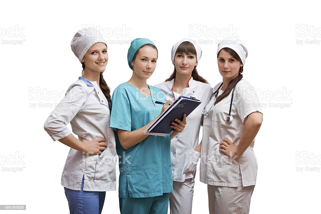 Portrait group of nurses royalty-free stock photo