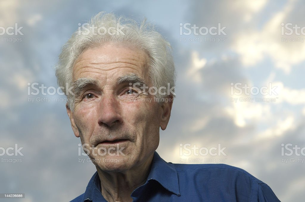 Portrait - happy senior royalty-free stock photo