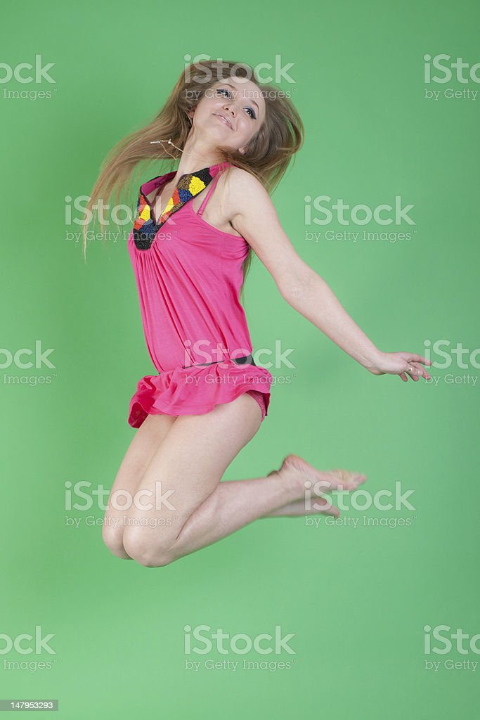 portrait in a jump royalty-free stock photo