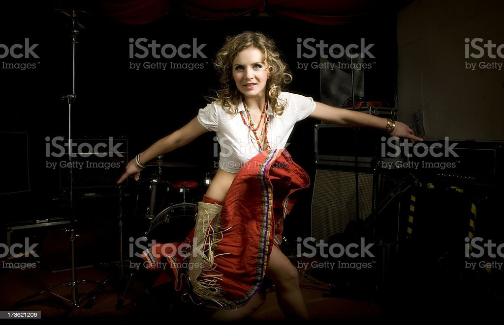 portrait in movement royalty-free stock photo