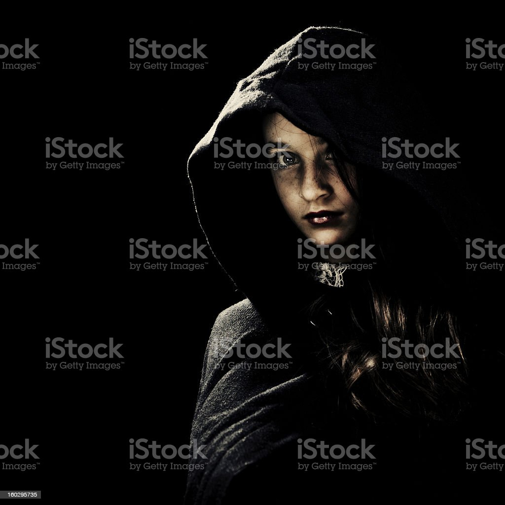 Portrait In The Dark royalty-free stock photo