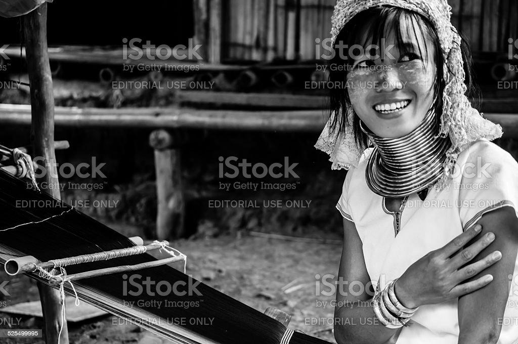 Portrait Karen Hill's Tribes BW 9 stock photo