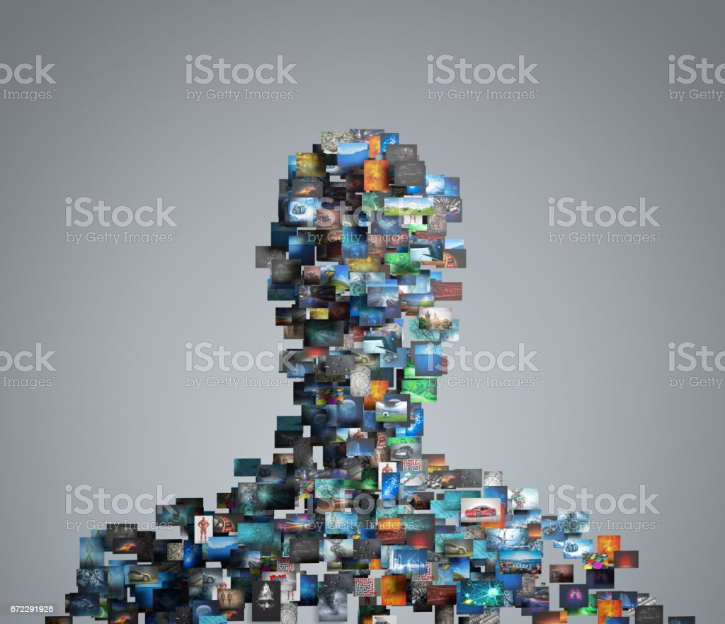 portrait made with pictures stock photo