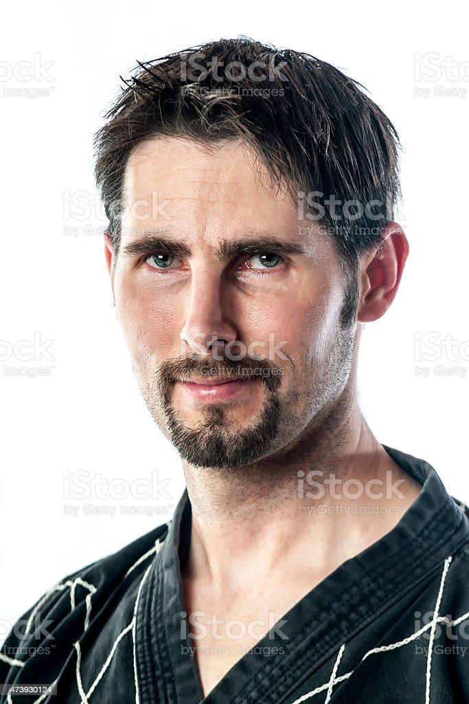 Portrait martial arts master stock photo