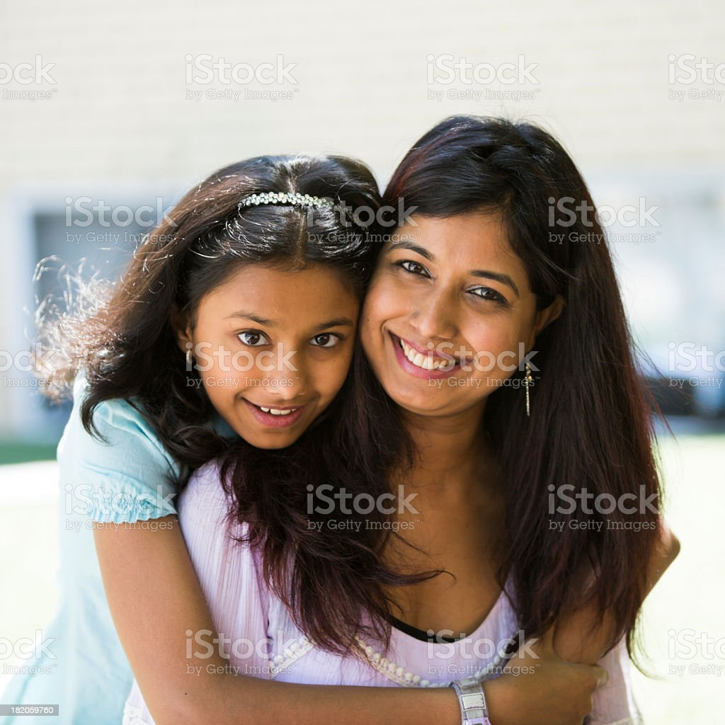 Portrait Mother and Daughter stock photo