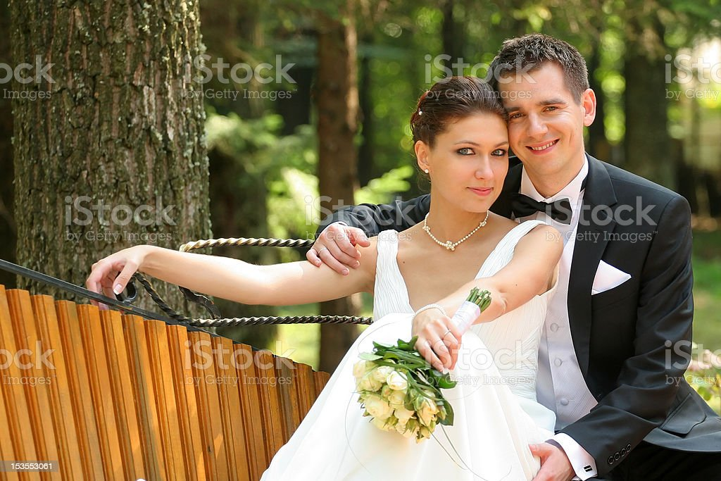Portrait newly married royalty-free stock photo