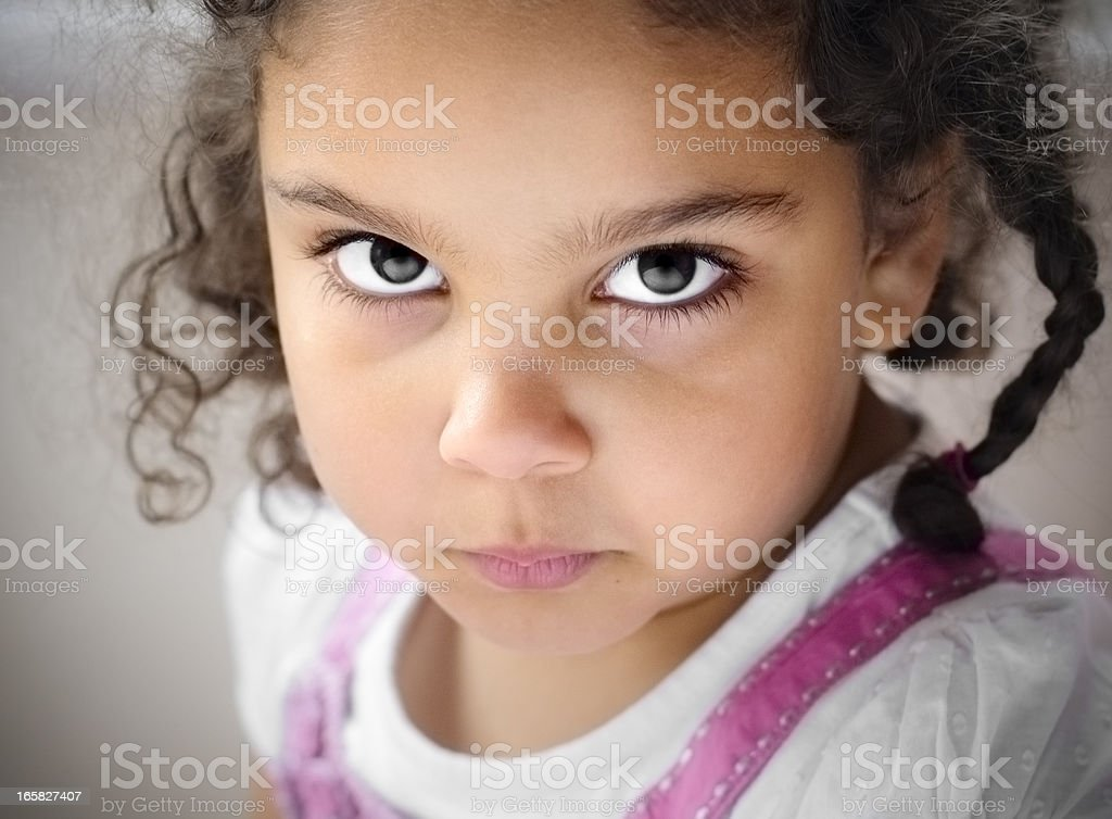Portrait of 5 years old Girl, Horizontal royalty-free stock photo