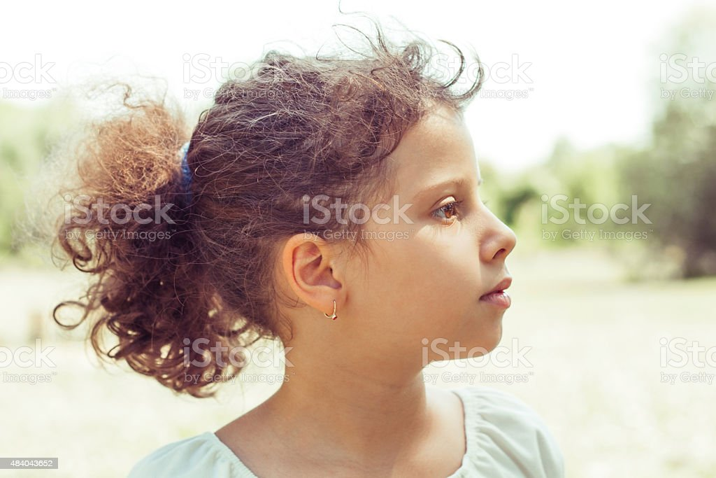 Portrait of 7 Years Old Child stock photo