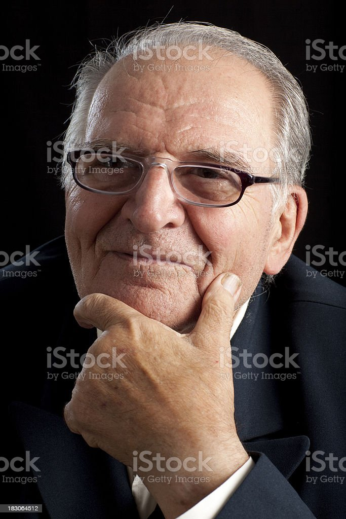 Portrait of 84 years old man. royalty-free stock photo