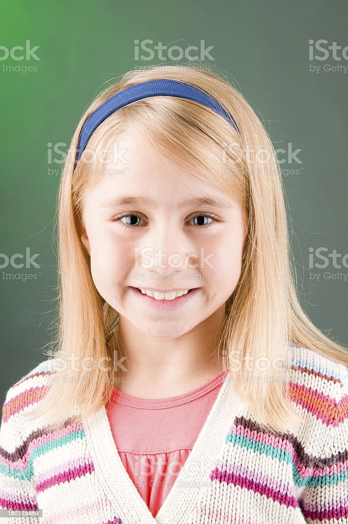 Portrait of a 10 year old girl stock photo