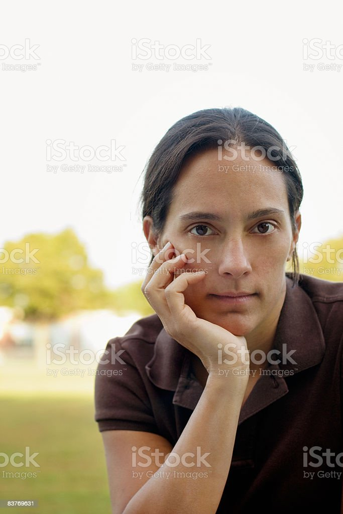 portrait of a 36 year-old woman stock photo