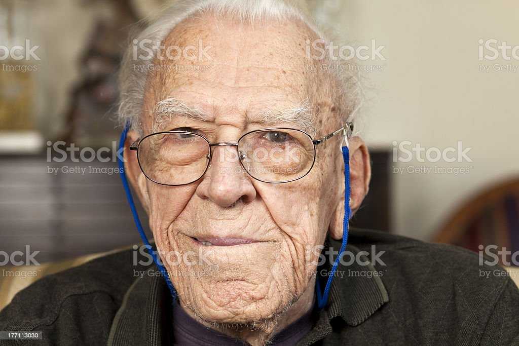 Portrait of a 94 year old man royalty-free stock photo