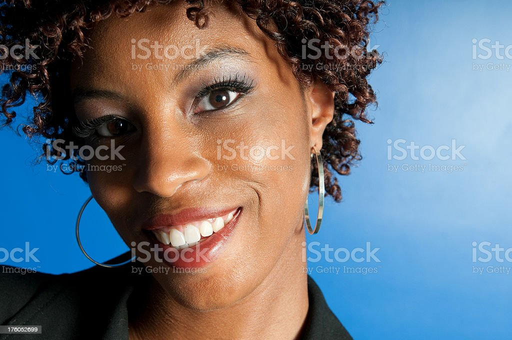 Portrait of a African American Woman stock photo