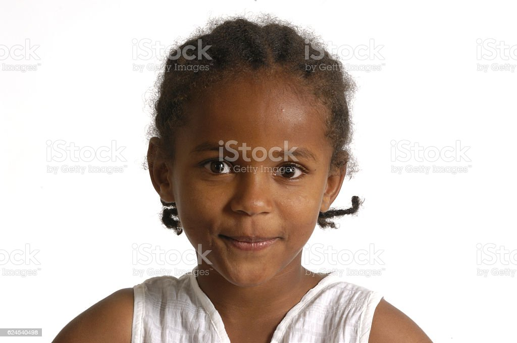 Portrait of a african young girl stock photo