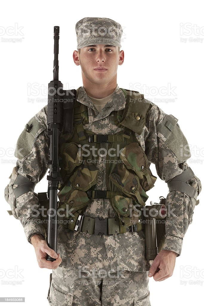 Portrait of a army soldier royalty-free stock photo