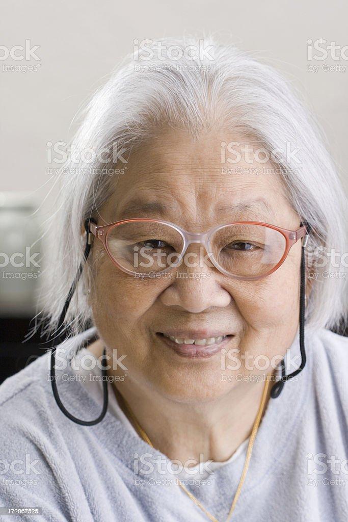 Portrait of a Asian Senior royalty-free stock photo