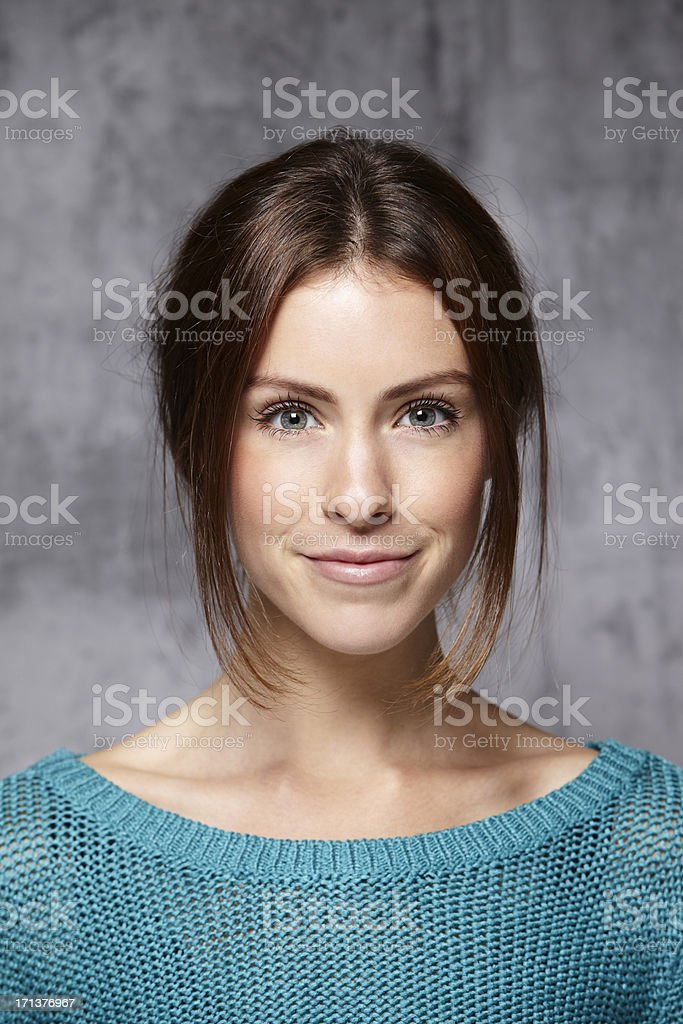 portrait of a average female in her 20´s stock photo
