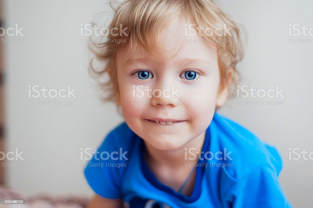 Portrait of a baby boy stock photo