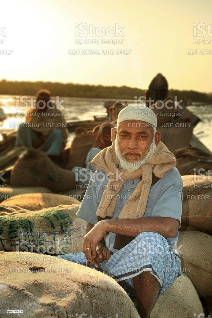 Portrait of a Bangladeshi Man stock photo