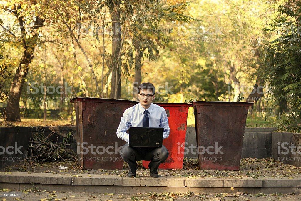Portrait of a bankrupt businessman royalty-free stock photo
