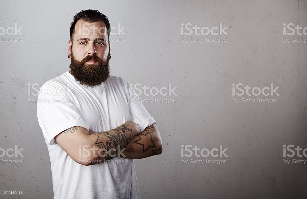 Portrait of a bearded man stock photo