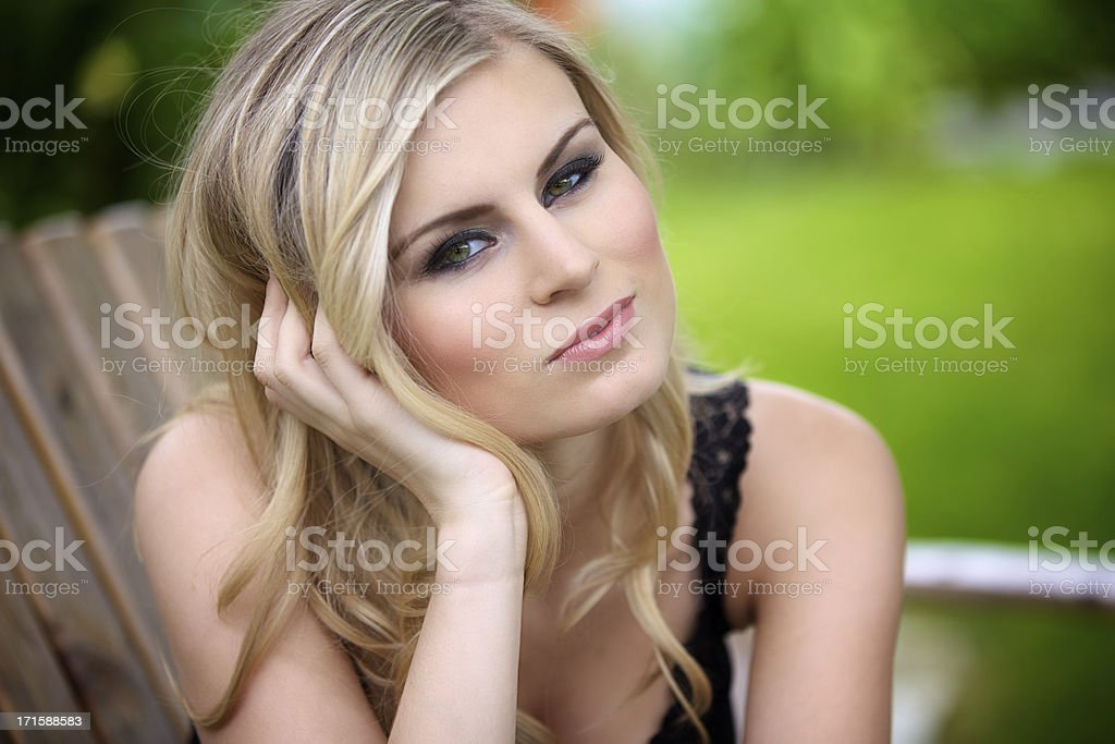 Portrait of a Beautiful and sensual woman royalty-free stock photo