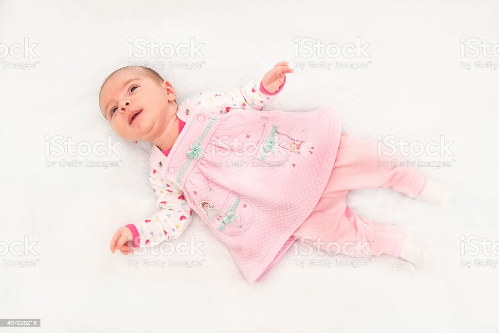 Portrait of a beautiful baby girl stock photo