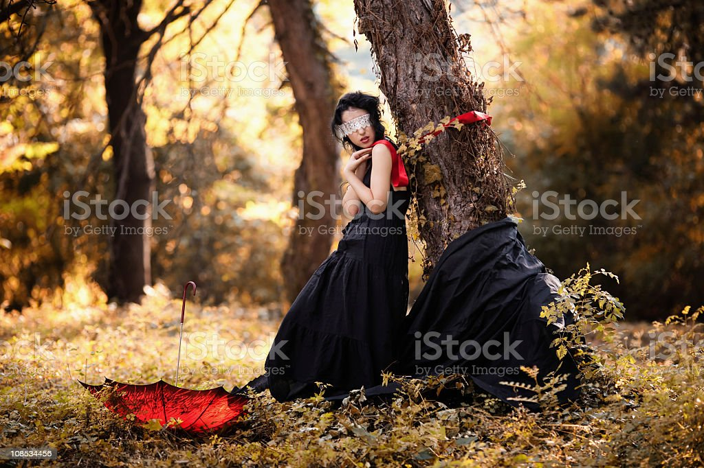 portrait of a beautiful blind girl royalty-free stock photo