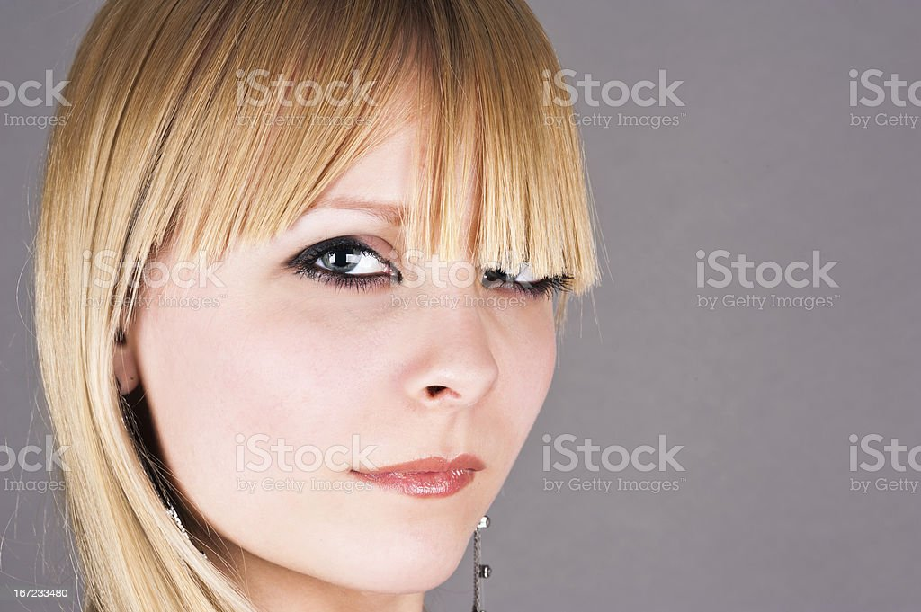 portrait of a beautiful blond royalty-free stock photo
