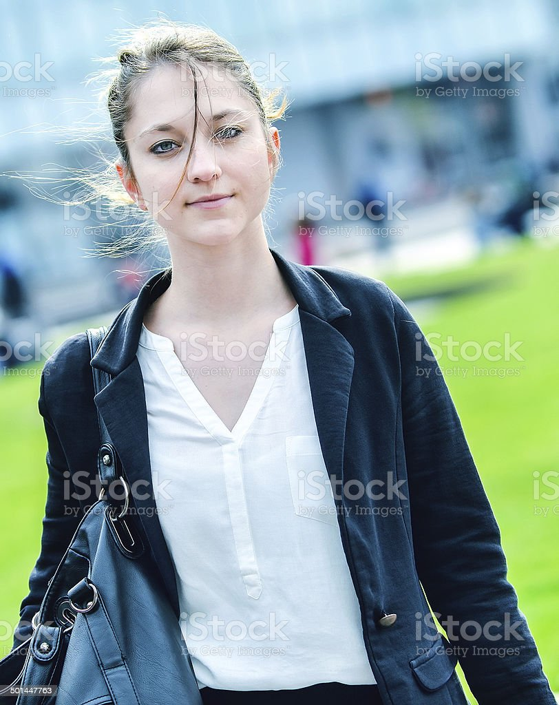 Portrait of a beautiful business woman royalty-free stock photo