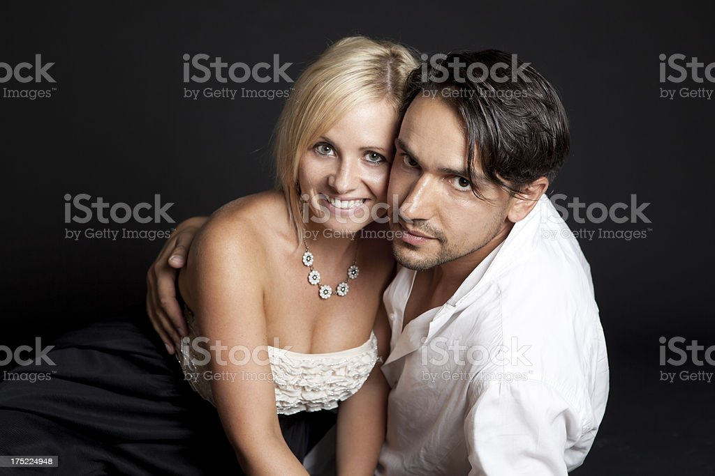 Portrait of a beautiful couple royalty-free stock photo
